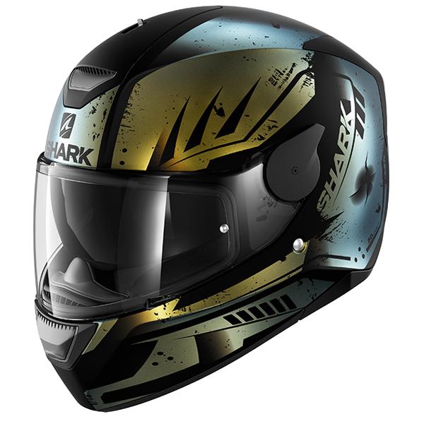 SHARK D-SKWAL Dharkov Purple/Gold Motorcycle Helmet