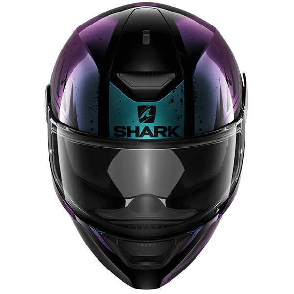 SHARK-D-SKWAL-Dharkov-Yellow-Purple-amp-Green-White-Helmet