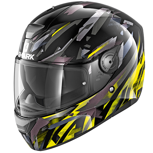 Shark D-Skwal Kanhji Motorcycle Helmet Blue/Red/Yellow