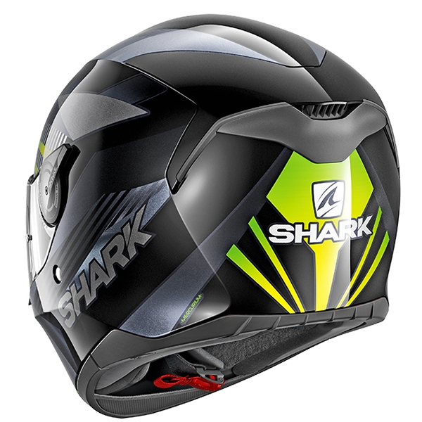 Shark D-Skwal Mercurium Motorcycle Helmet Green