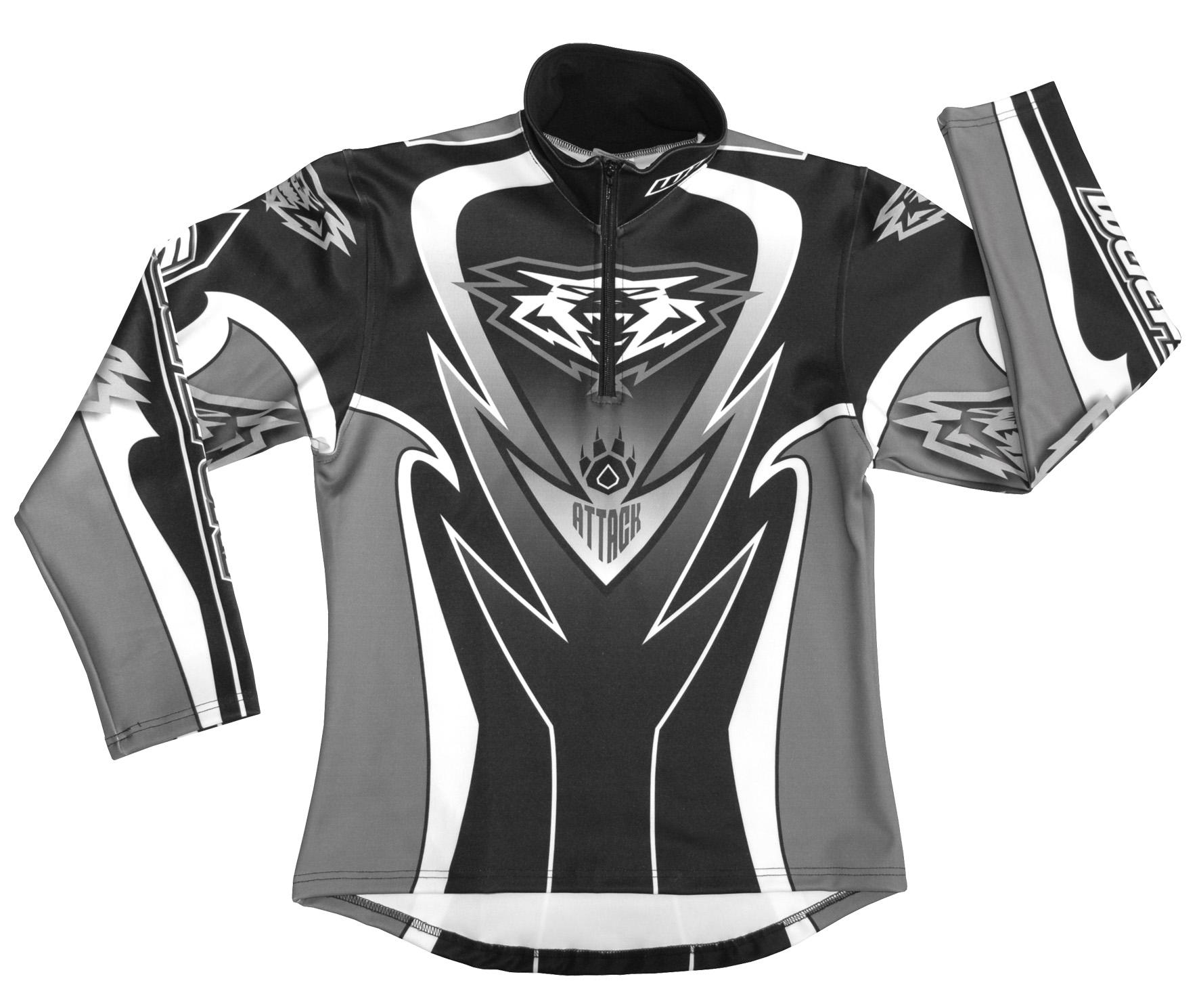Wulfsport Trials Shirt Attack Black Grey