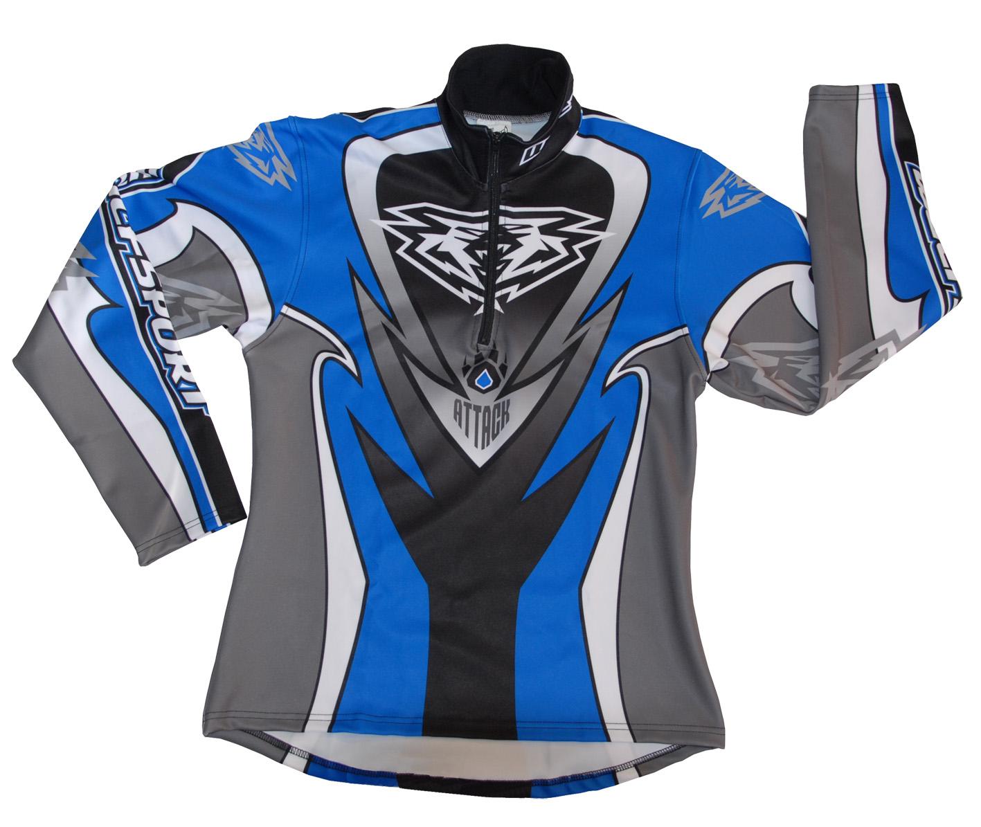 Wulfsport Trials Shirt Attack Blue Black