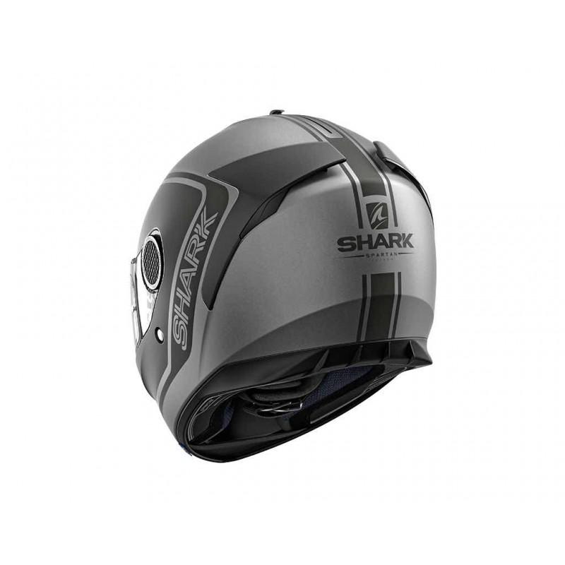 Shark Spartan Priona Motorcycle Helmet Mat Grey