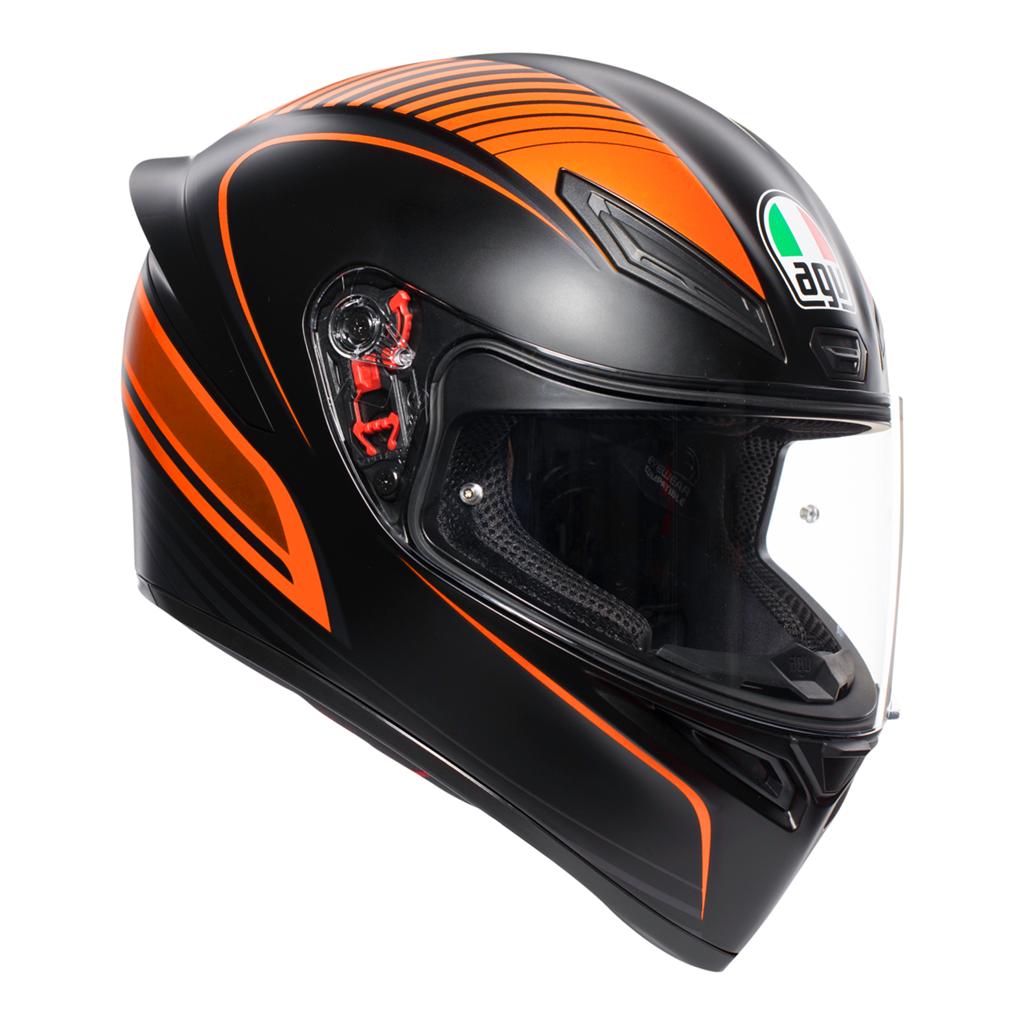 AGV K1 Warm Up - Matt Black/Orange image