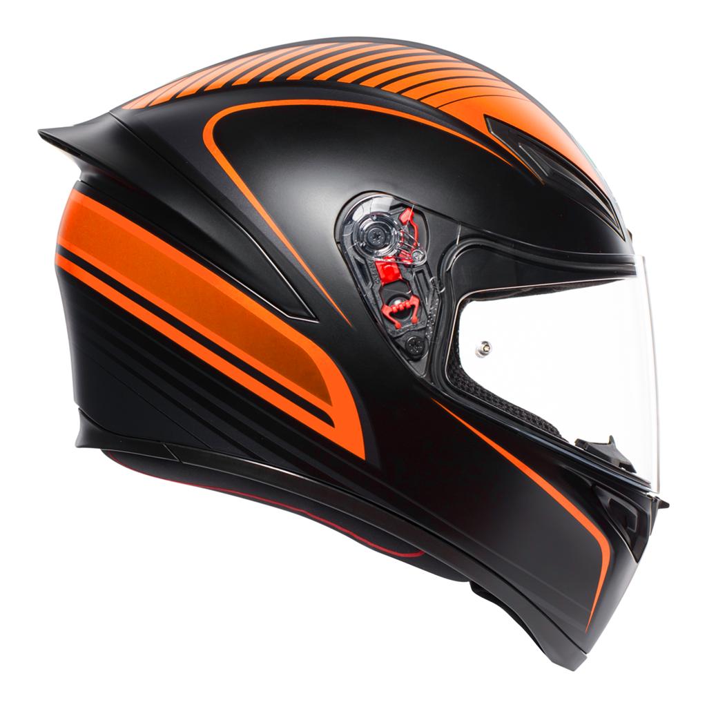AGV K1 Warm Up - Matt Black/Orange Motorcycle Helmet