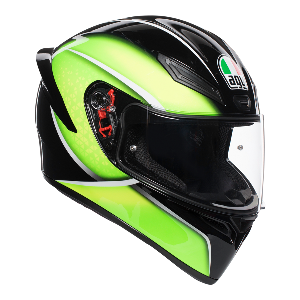 AGV K1 Qualify - Black/Lime image