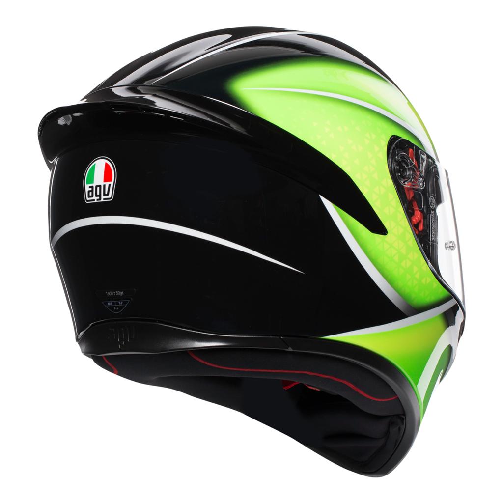 AGV K1 Qualify - Black/Lime Motorcycle Helmet