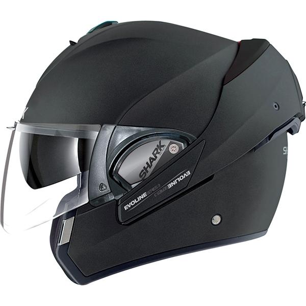 SHARK Evoline S3 Mat Black Flip Front Helmet