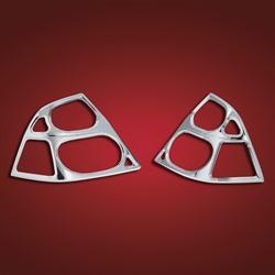 Big Bike Parts Saddlebag Lens Chrome Accent Grill