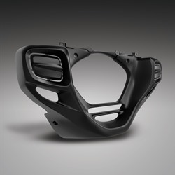 Big Bike Parts Black Lower Cowl Rectangular