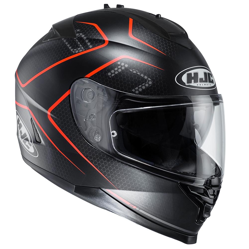 HJC IS-17 Lank Black Red Adult Helmet image