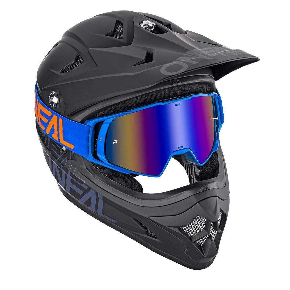 ONEAL B-20 Goggle FLAT Blue/Orange - Radium