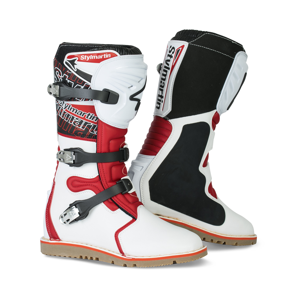 Stylmartin Impact Pro Trial Boots - Red White