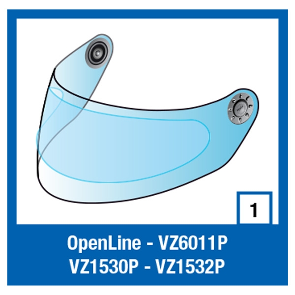Shark Clear Pinlock S600/700//S900/OPEN/RIDILL image