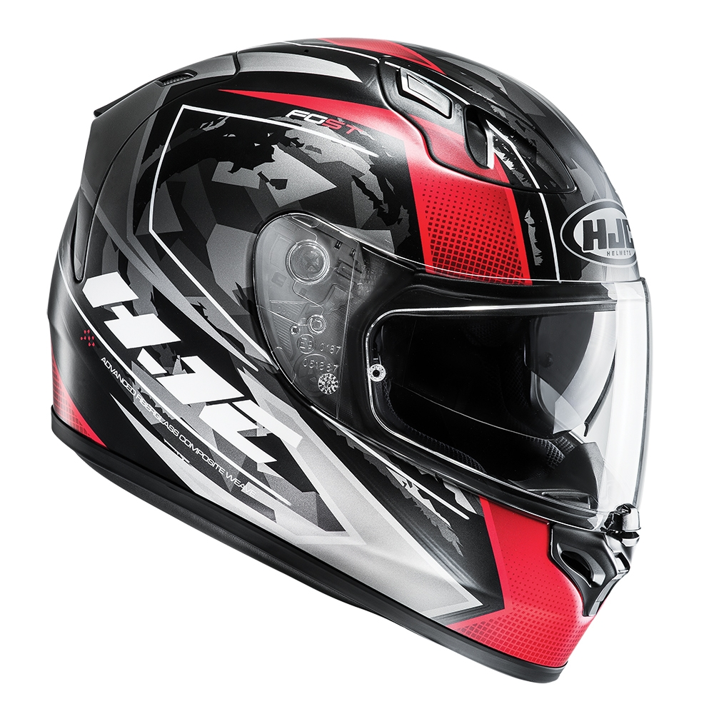 HJC FG-ST Kume Green/Red Adult Helmet