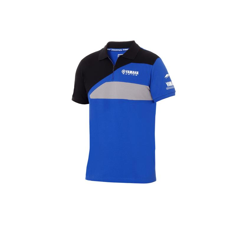 Yamaha Paddock Blue Zip Polo Shirt image