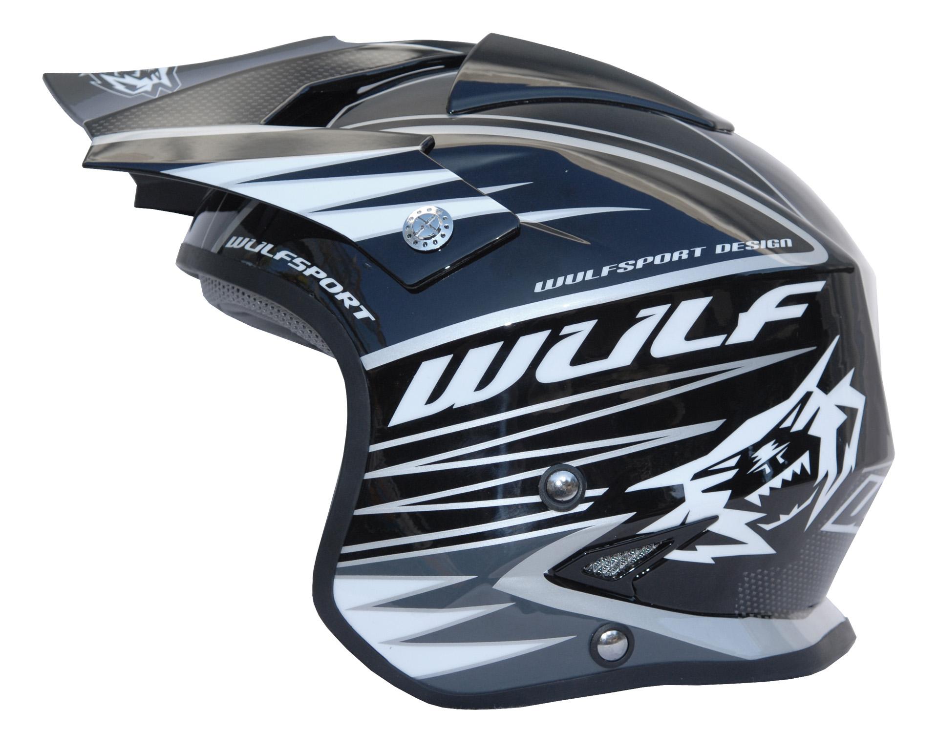 Wulfsport Wulf Tri Action Trials Helmet Black