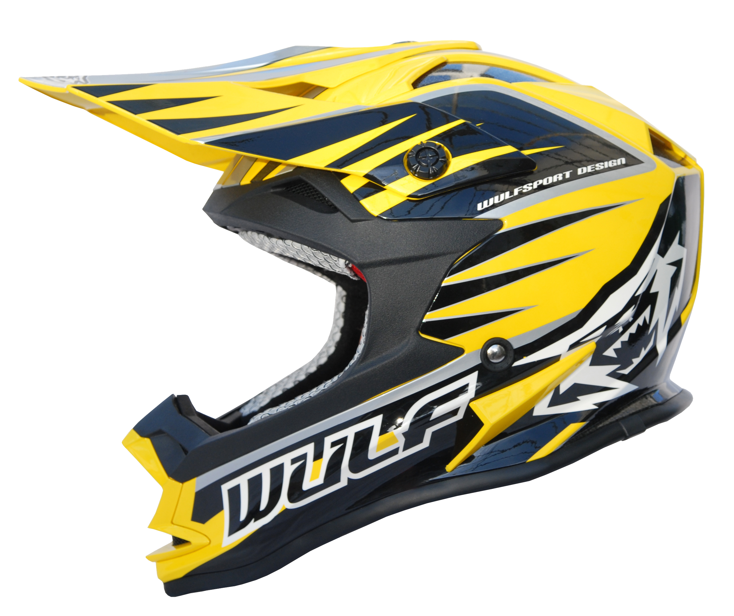 Wulfsport Wulf Advance Helmet Adults Yellow