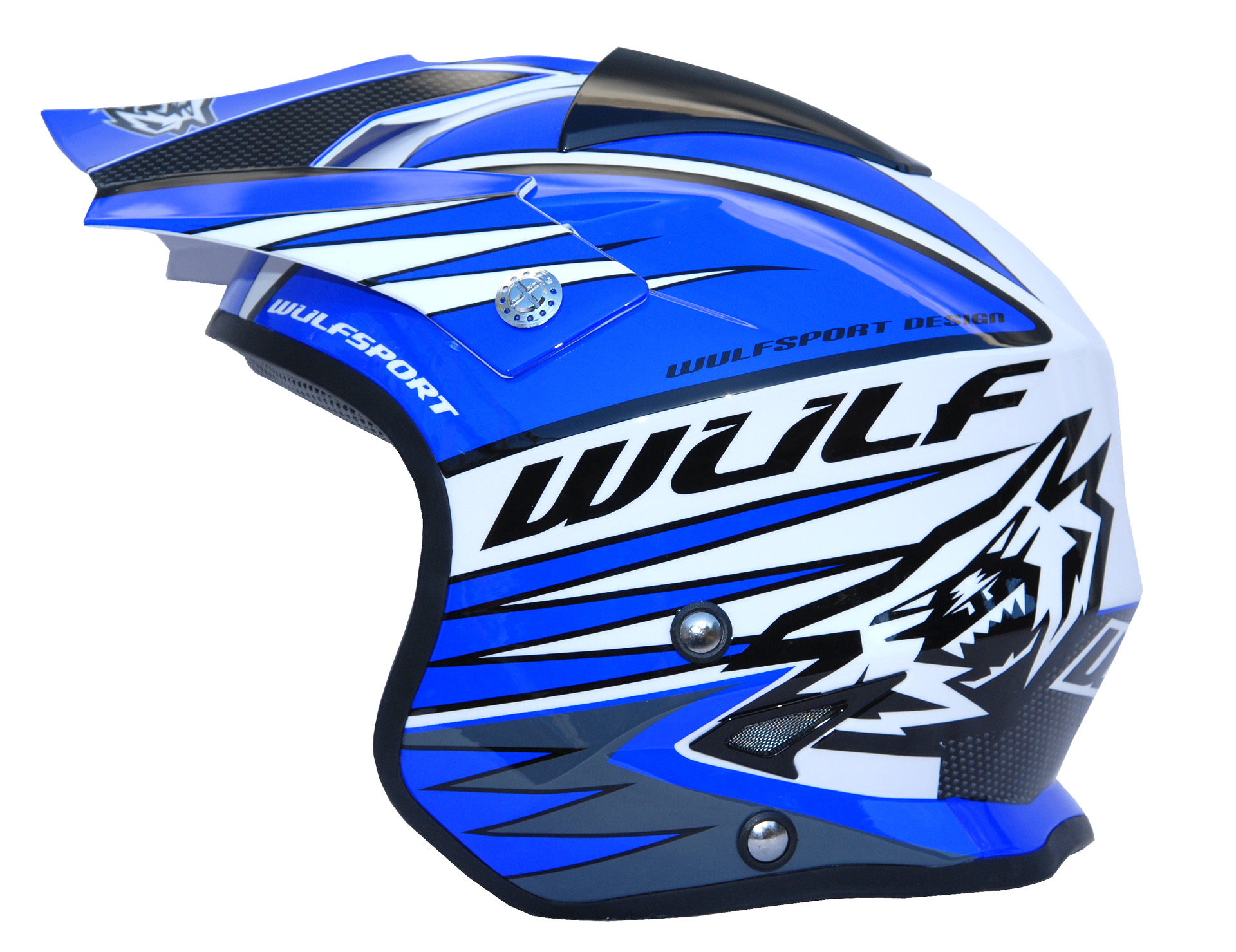 Wulfsport Tri Action Trials Helmet Blue