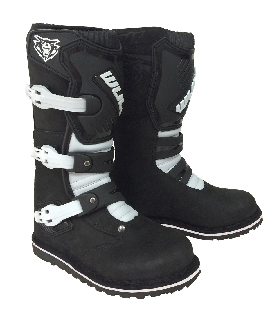 Wulfsport Cub Kids Trials Boots Black