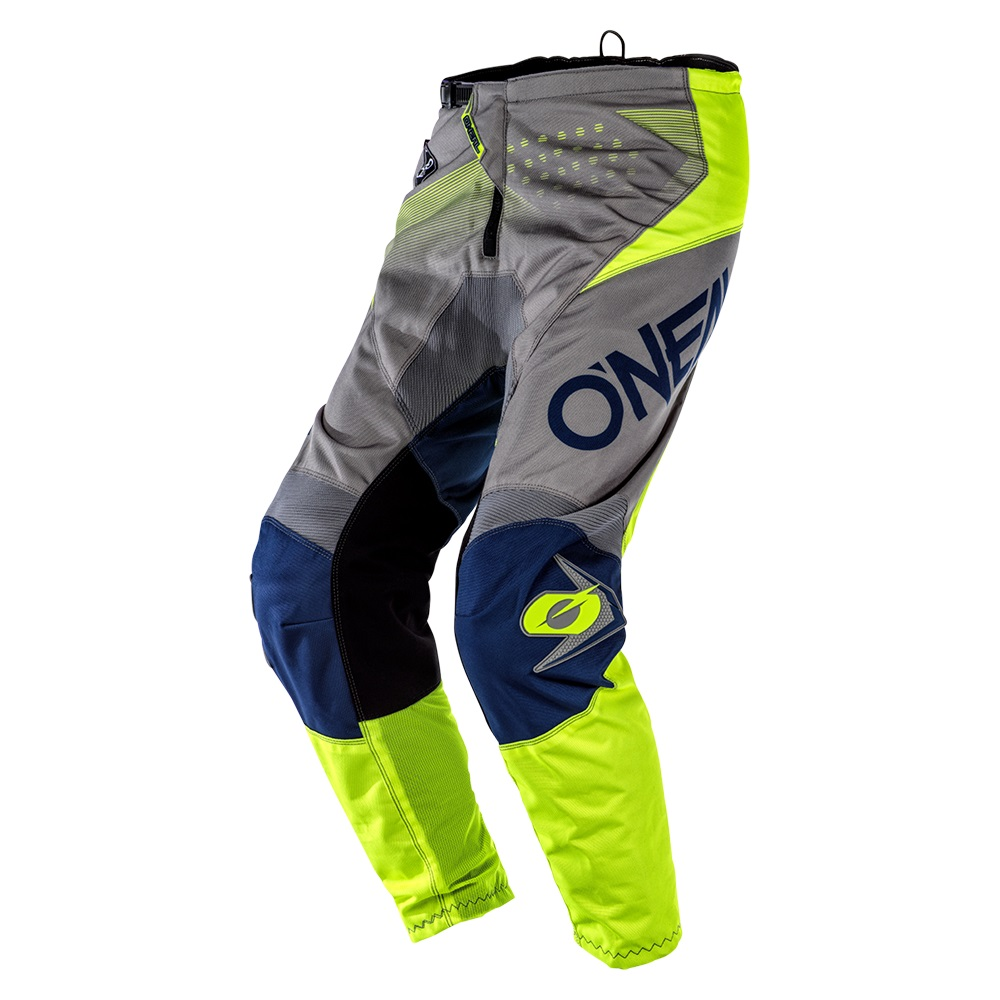 ONEAL ELEMENT Pants Factor Grey/Blue/Neon Yellow