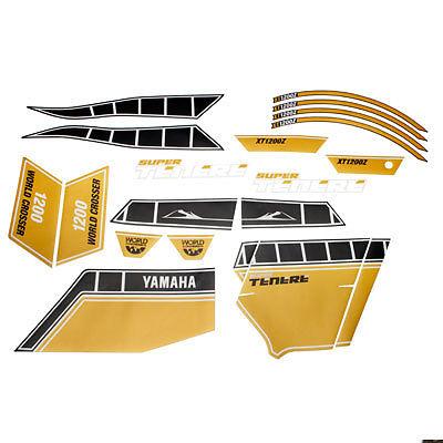 Yamaha Super Tenere XT1200Z Yellow Worldcrosser Sticker Set