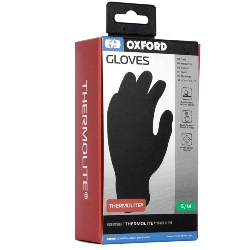 Oxford Inner Gloves Knit Thermolite (Black)