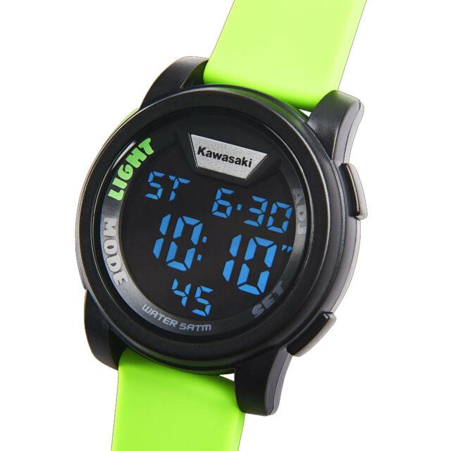 Kawasaki Digital Watch Green