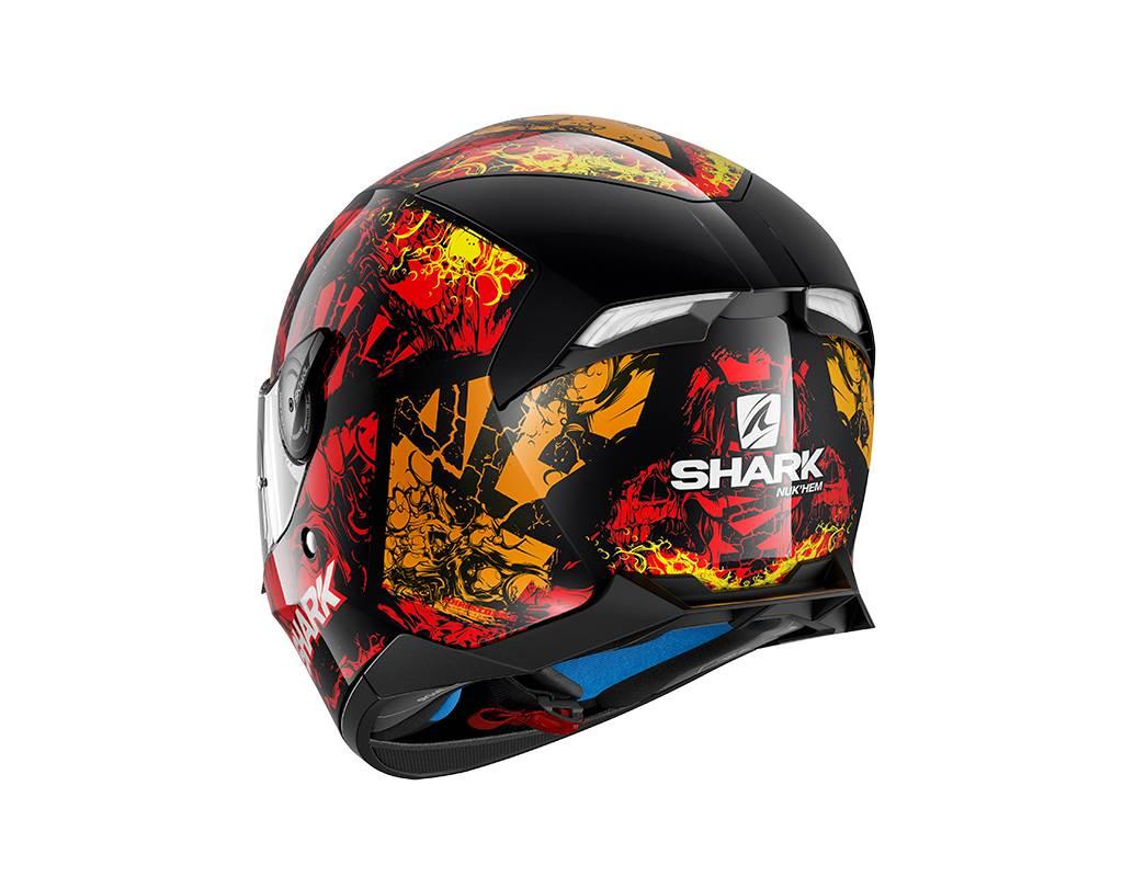 Shark Skwal 2 Nuk'Hem Motorcycle Helmet Red