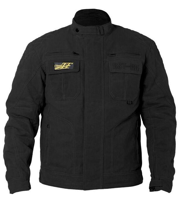 RST 'Isle Of Man' TT Motorcycle Wax Jacket (Black)