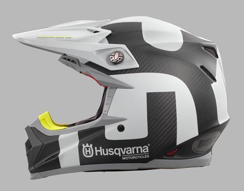 Husqvarna BELL Carbon Moto 9 Flex Railed Helmet