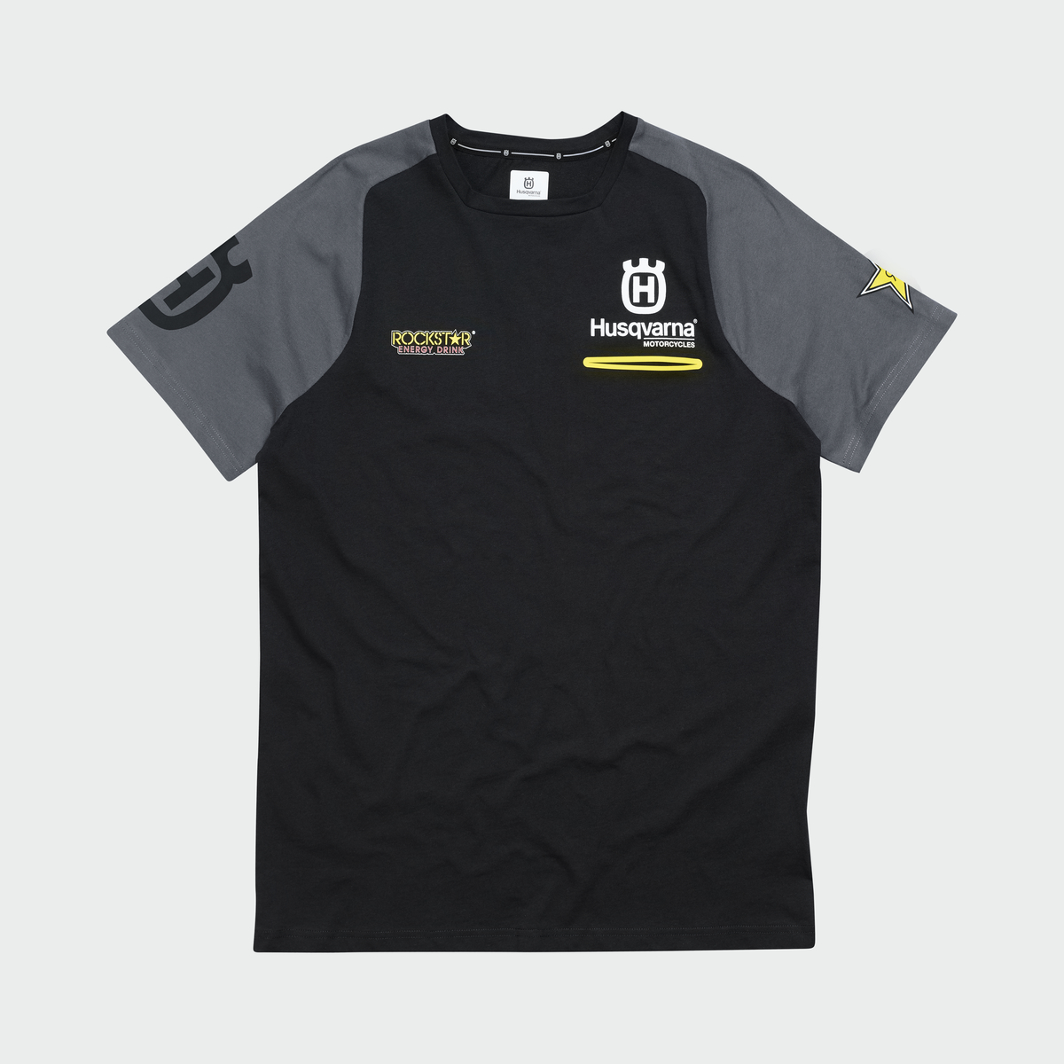 Husqvarna Mens RS Black Tee T-Shirt