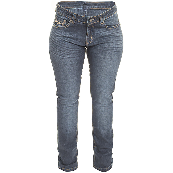 RST Aramid Ladies Straight Leg Jeans Blue