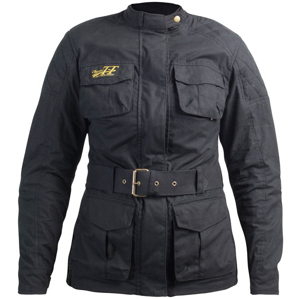RST Ladies Classic TT Wax 3/4 III CE Textile Jacket - Black
