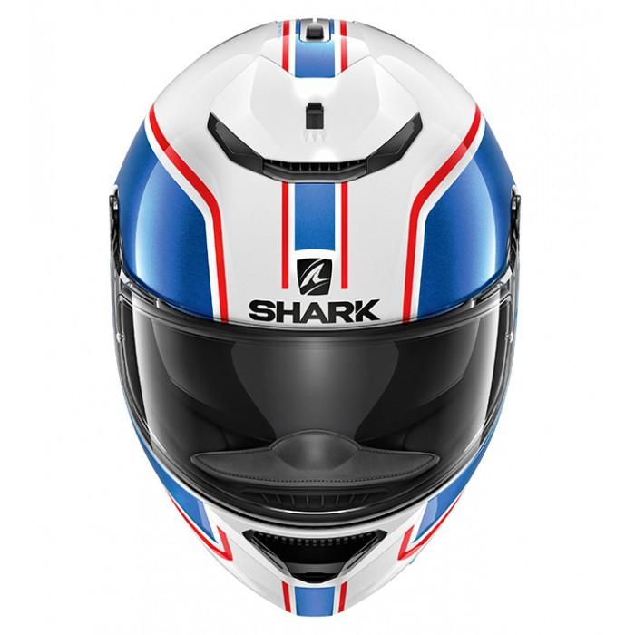 Shark Spartan Priona Motorcycle Helmet White & Blue