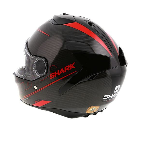 Shark Spartan Carbon Silicium Motorcycle Helmet Red