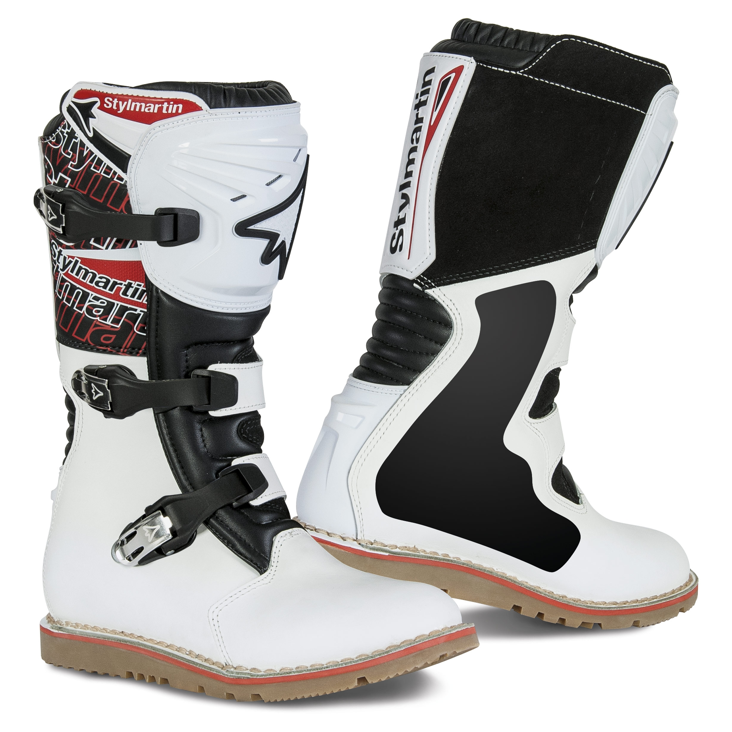 f070117f4f9 Details about Stylmartin Impact Evo Trial Boots White
