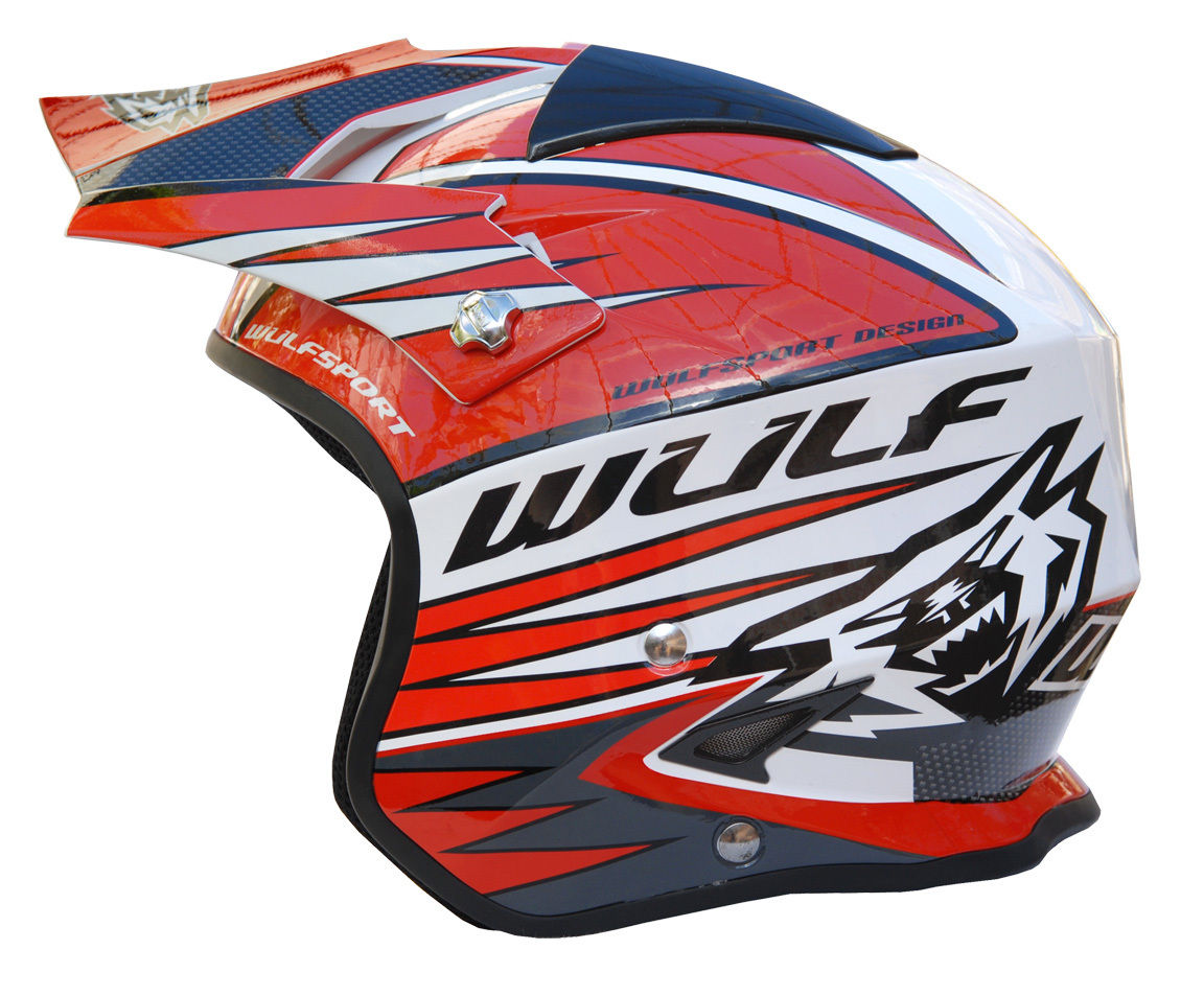 Wulfsport Tri Action Trials Helmet Red