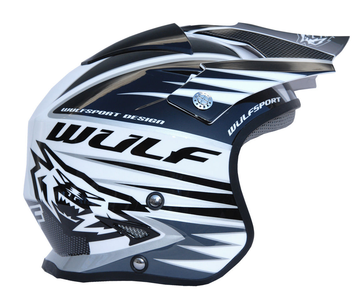 Wulfsport Tri Action Trials Helmet Black/White