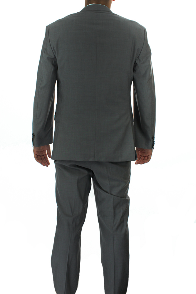 0d5652422 Boss Hugo Boss New Charcoal Stepweave 2Pc Suit 44R-41W $895 ...