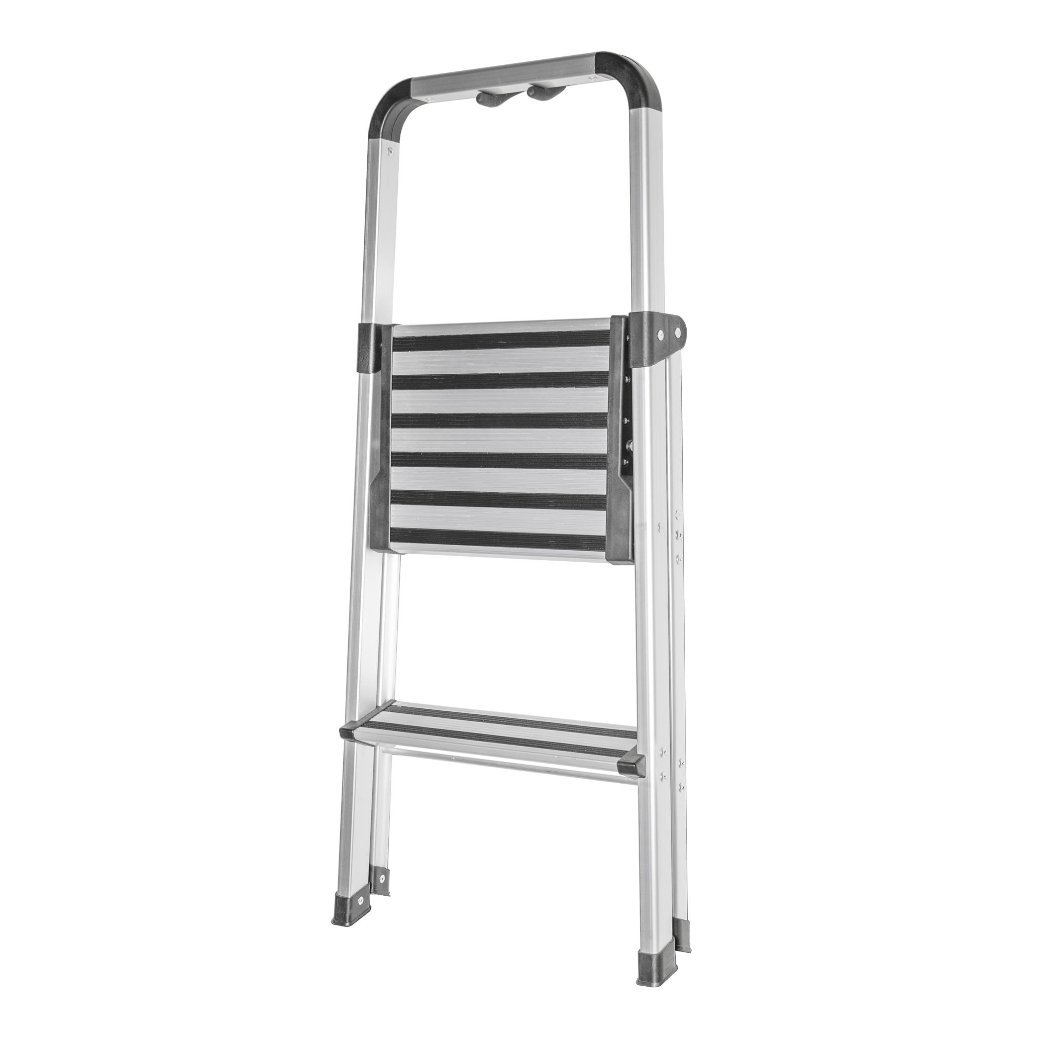 Folding Ultra Light Brush Aluminum Step Stool Ladder With