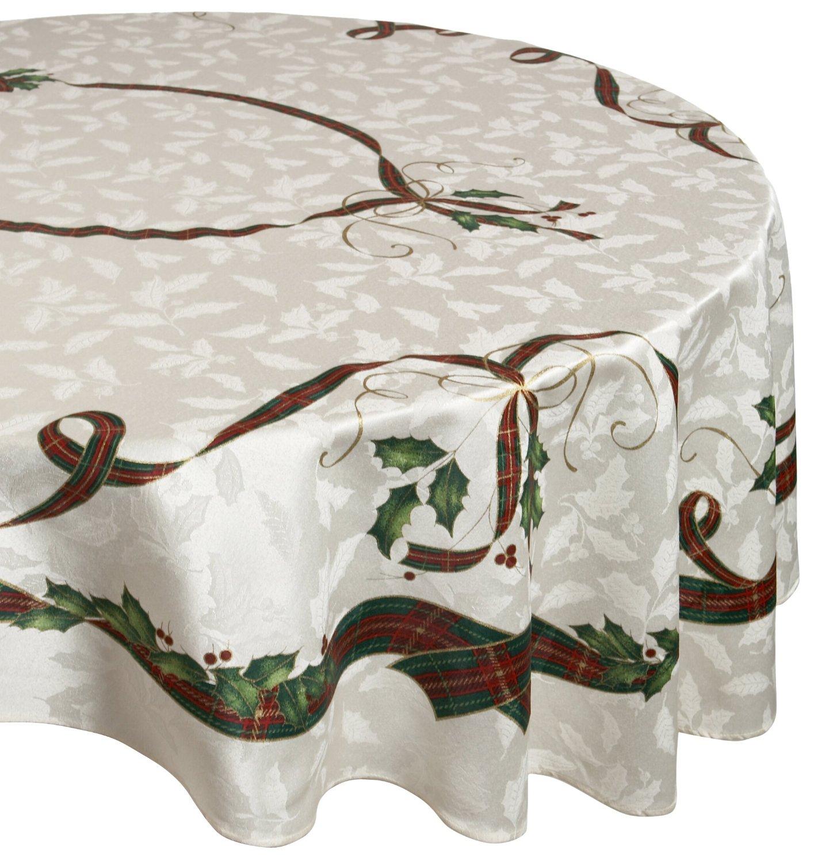 Lenox Holiday Gathering Plaid Tablecloth Ebay