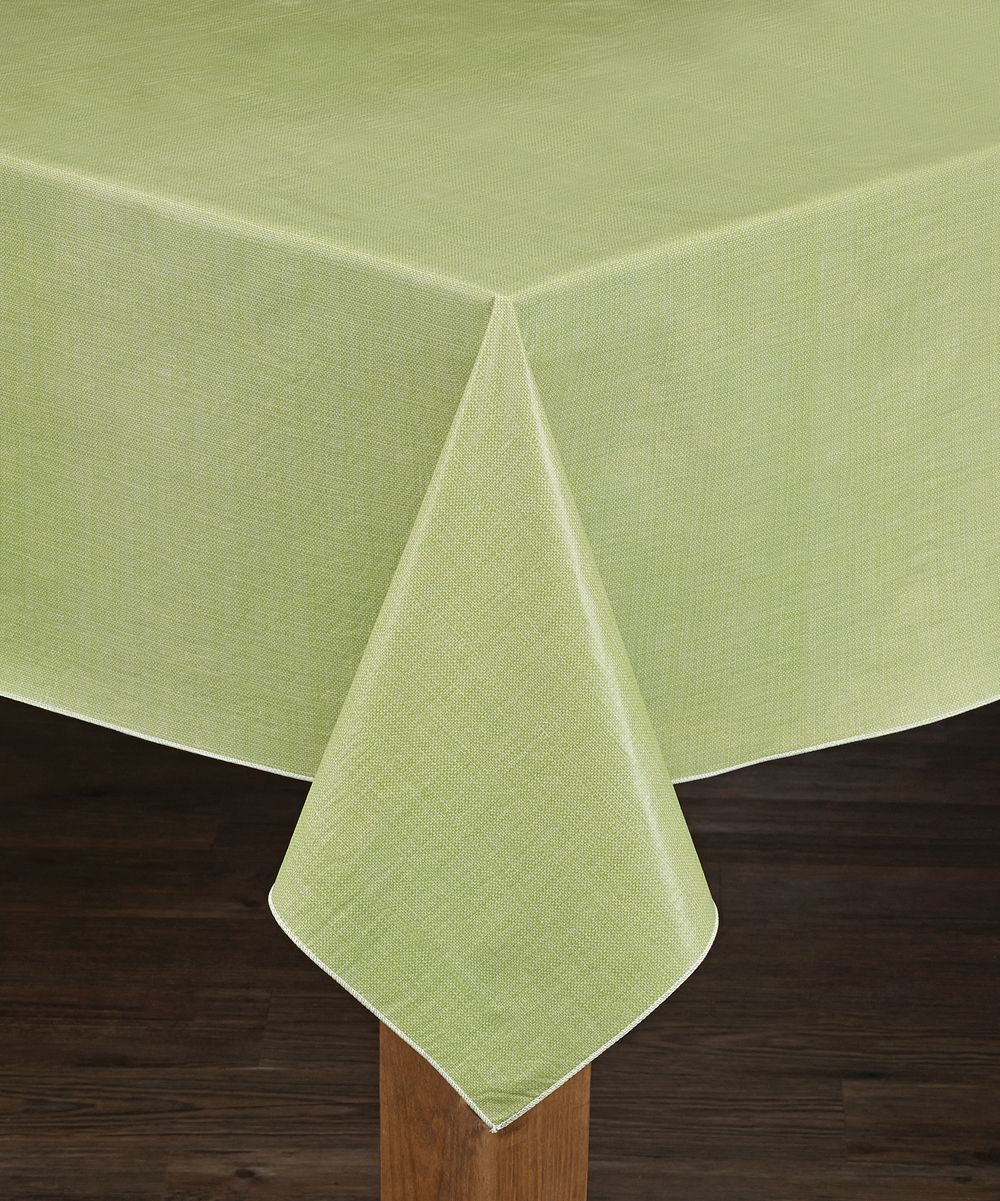 Cafe Deauville Vinyl Tablecloth With Soft Flannel Backing