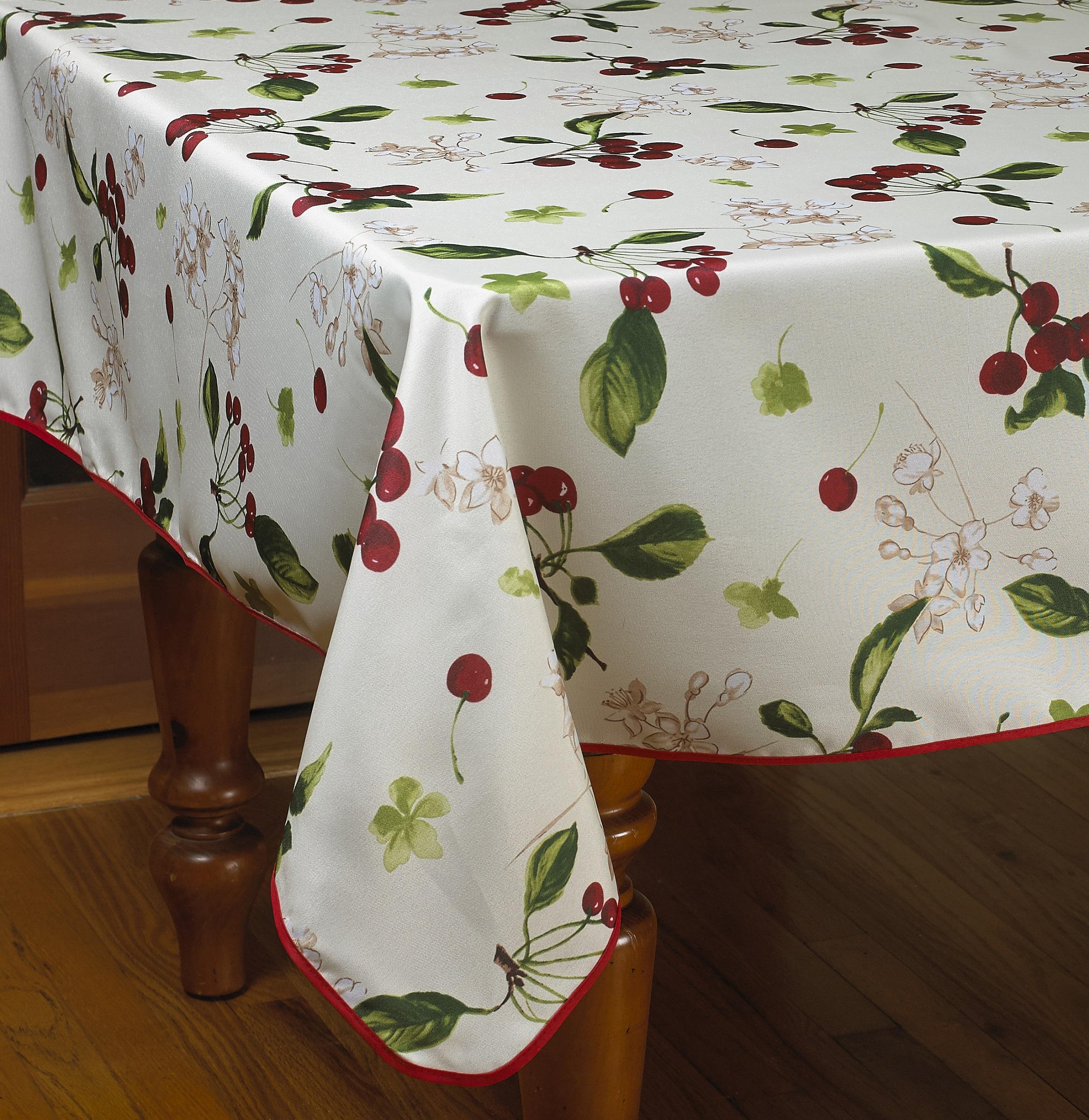 European Kitchen Cherries Vintage Tablecloths Ebay