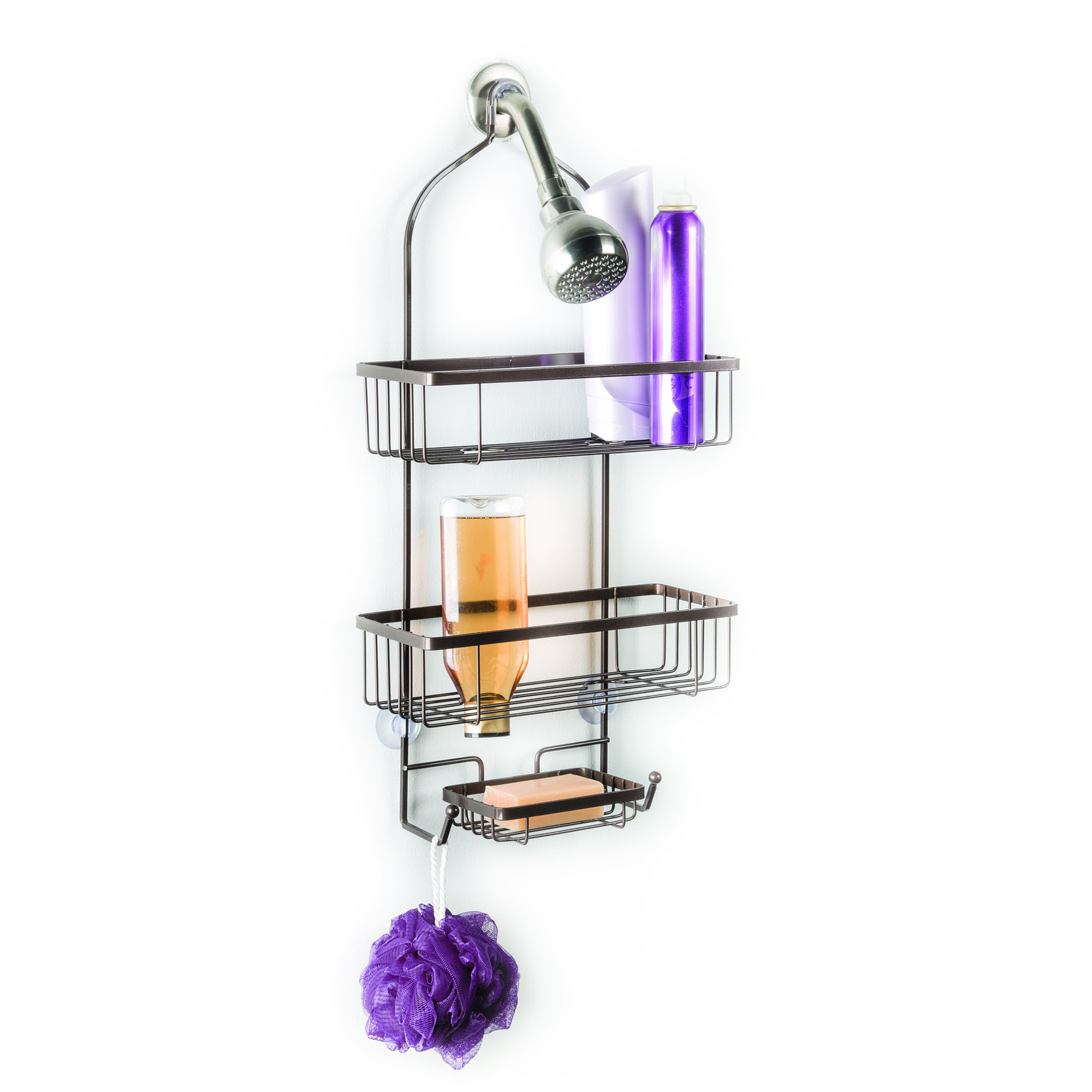 Over The Showerhead Two Tier Open Wire Design Deluxe Shower Caddy ...