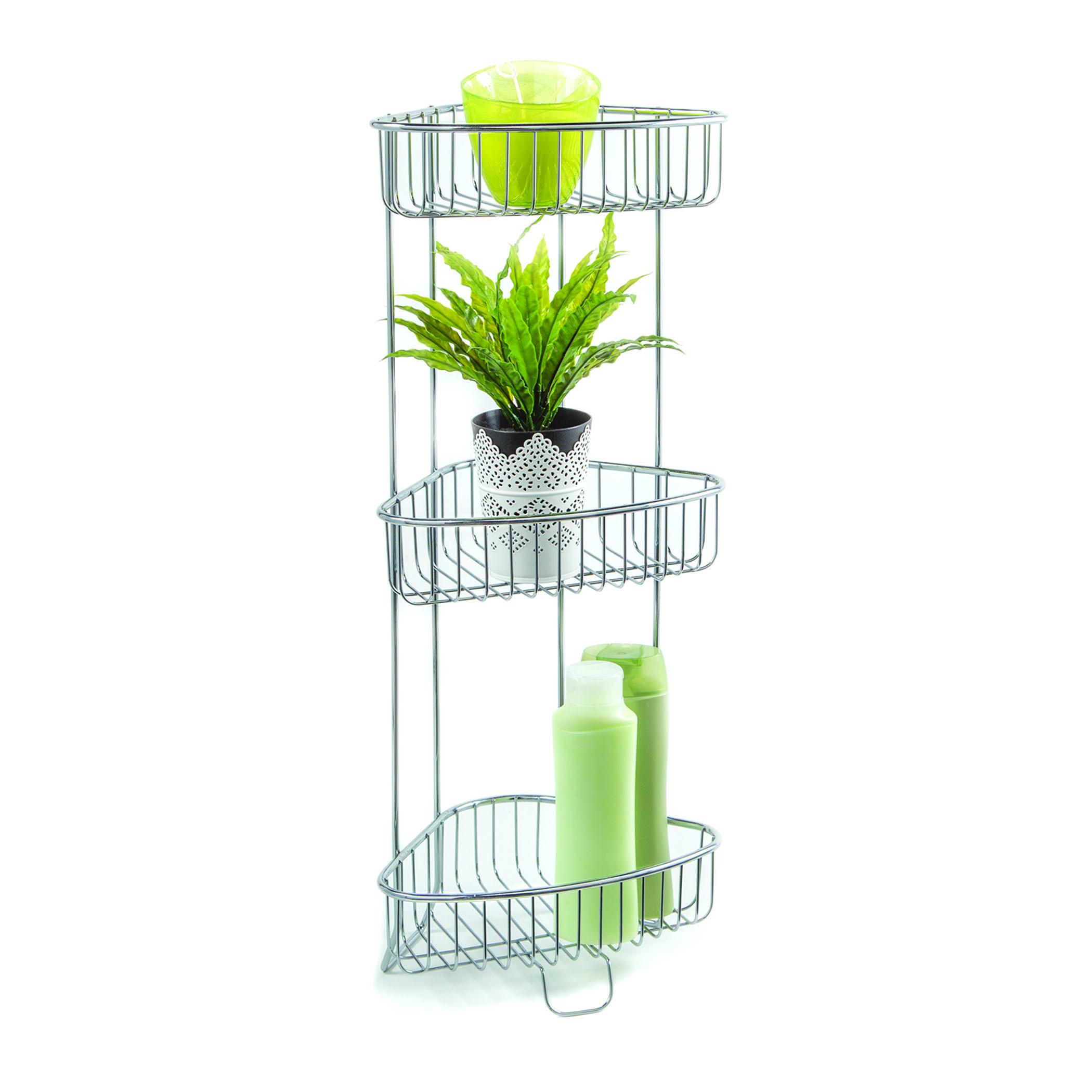 Homecrate Bathroom Accessories Corner Stand Open Wire Design With ...