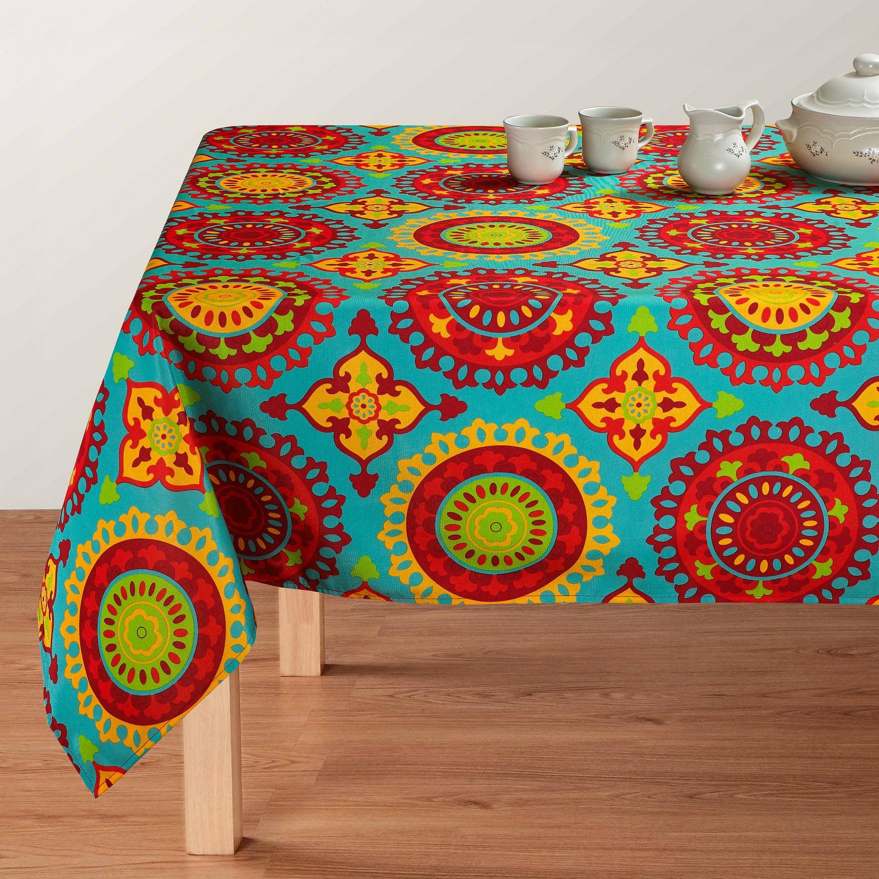 Marrakesh Indoor Outdoor Tablecloth, Liquid Repellent/Stain ...