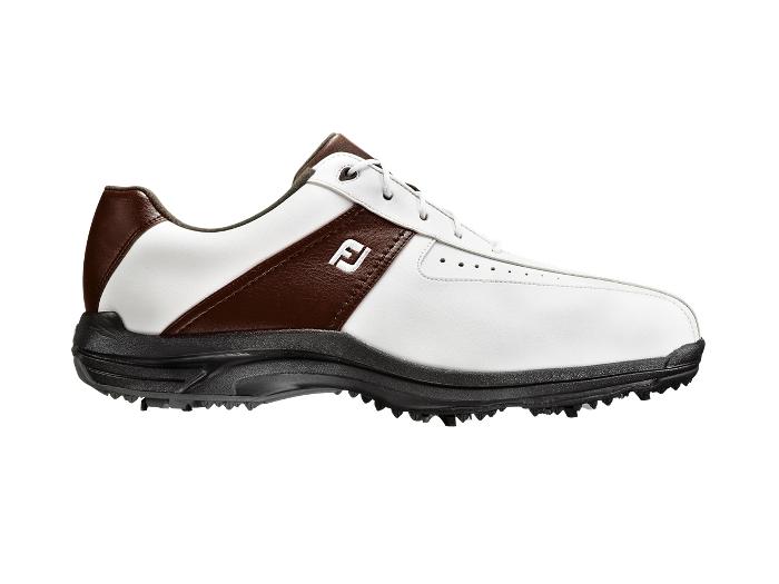 Footjoy Junior Golf Shoes White Brown