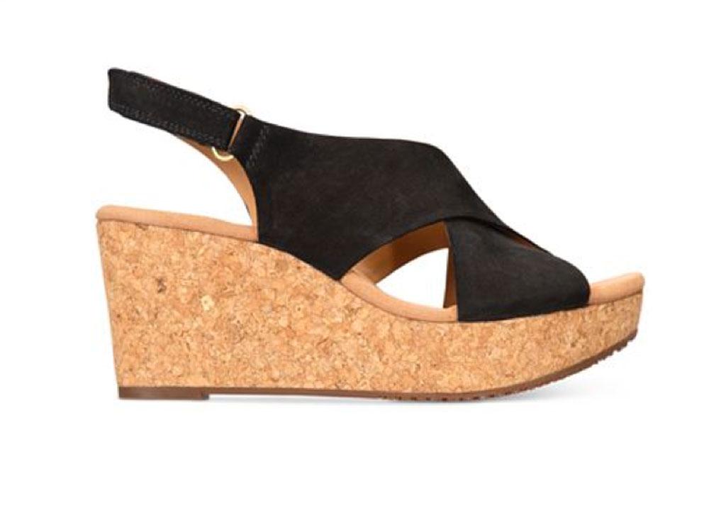 Clarks Women S Annadel Eirwyn Nubuck Wedge Sandals Ebay