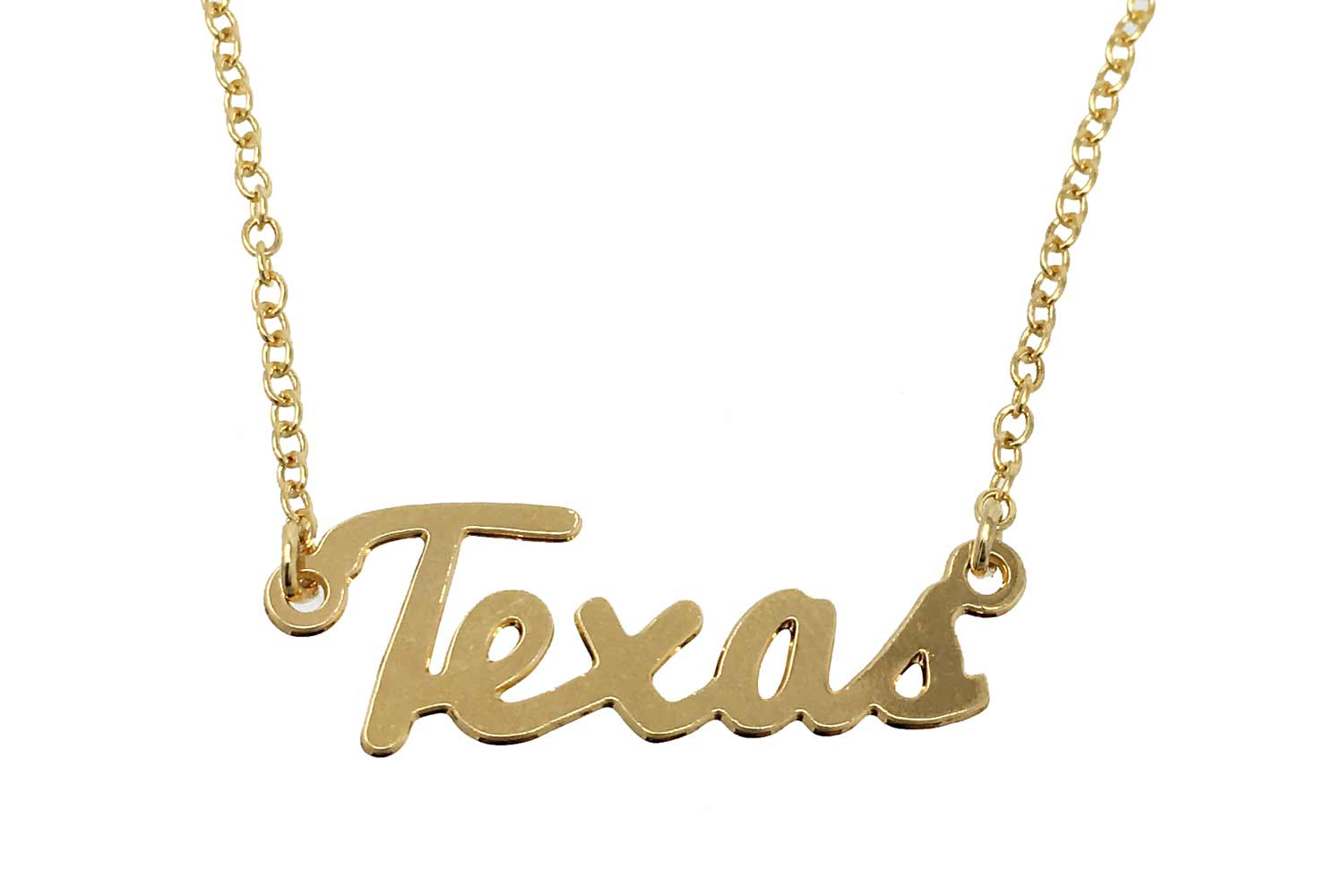 Kris nations womens state pride collection texas script necklace kris nations womens state pride collection texas script necklace gold tone aloadofball Images